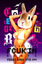 comfort zone - come get your fcuk'n beats - friday april 10th 2009 - i ♥ cz - front