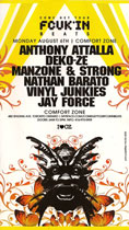 comfort zone toronto- come get your fcuk'n beats - monday august 6th 2007 - i ♥ cz - front